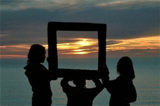 Sun set at Raglan