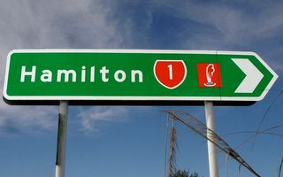 Hamilton Road Sign