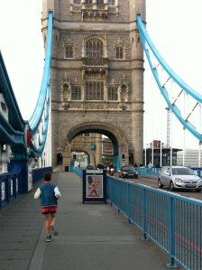 Running with Jay over Tower Bridge