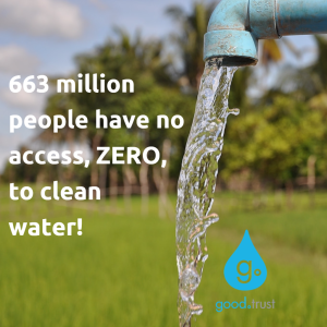 663 million people with no clean water.