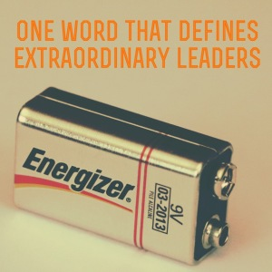 One word that defines extraordinary leaders