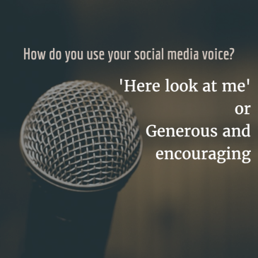 How do you use your social media voice