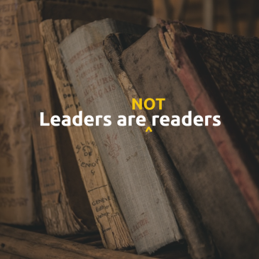 Leaders are NOT readers