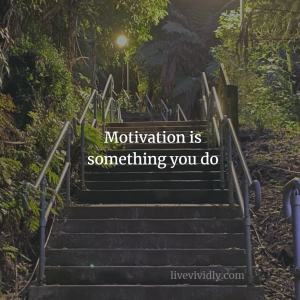 Motivation is something you do