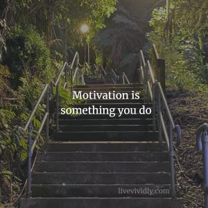 Motivation is something you do